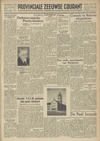Provinciale Zeeuwse Courant 1947-09-06