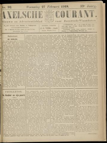 Axelsche Courant 1918-02-27
