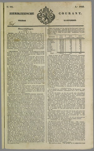 Zierikzeesche Courant 1844-11-22