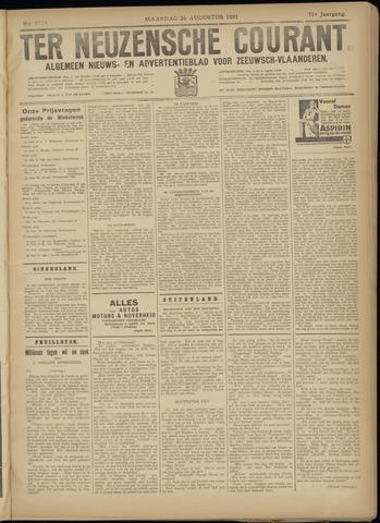 Ter Neuzensche Courant. Algemeen Nieuws- en Advertentieblad voor Zeeuwsch-Vlaanderen / Neuzensche Courant ... (idem) / (Algemeen) nieuws en advertentieblad voor Zeeuwsch-Vlaanderen 1931-08-24
