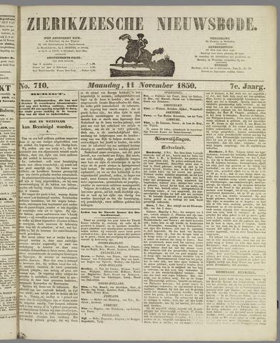 Zierikzeesche Nieuwsbode 1850-11-11