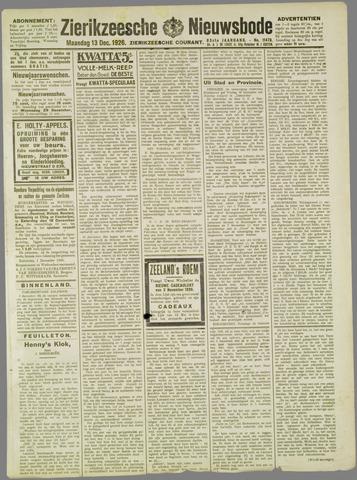 Zierikzeesche Nieuwsbode 1926-12-13