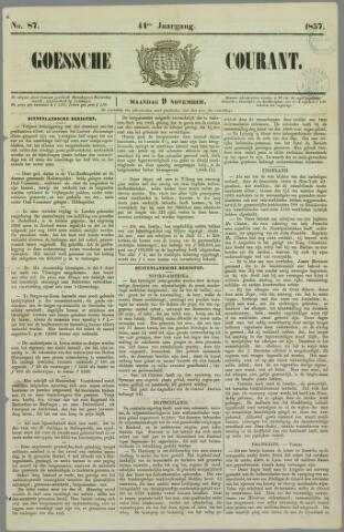 Goessche Courant 1857-11-09
