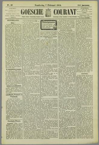 Goessche Courant 1924-02-07