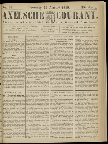 Axelsche Courant 1918-01-23