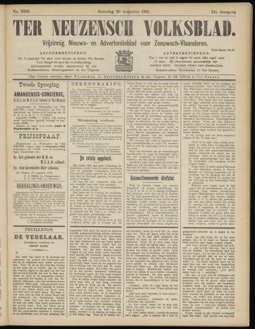 Ter Neuzensch Volksblad. Vrijzinnig nieuws- en advertentieblad voor Zeeuwsch- Vlaanderen / Zeeuwsch Nieuwsblad. Nieuws- en advertentieblad voor Zeeland 1913-08-30