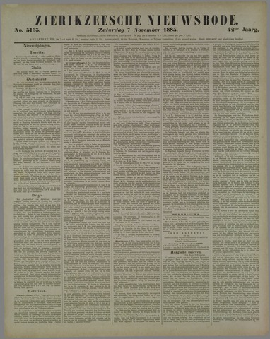 Zierikzeesche Nieuwsbode 1885-11-07