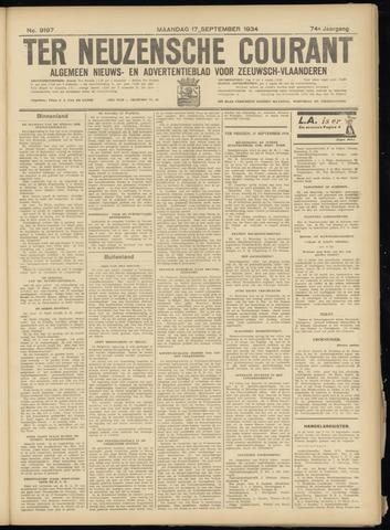 Ter Neuzensche Courant. Algemeen Nieuws- en Advertentieblad voor Zeeuwsch-Vlaanderen / Neuzensche Courant ... (idem) / (Algemeen) nieuws en advertentieblad voor Zeeuwsch-Vlaanderen 1934-09-17