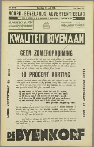 Noord-Bevelands Nieuws- en advertentieblad 1932-06-18