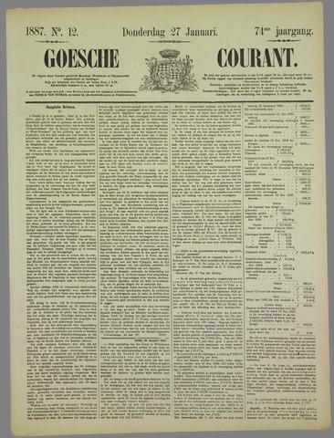 Goessche Courant 1887-01-27