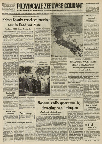 Provinciale Zeeuwse Courant 1956-02-08