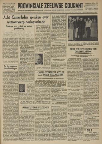 Provinciale Zeeuwse Courant 1949-10-27