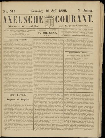 Axelsche Courant 1889-07-10