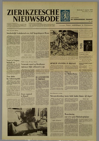Zierikzeesche Nieuwsbode 1970-08-06