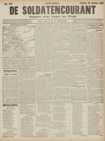 De Soldatencourant. Orgaan voor Leger en Vloot 1916-10-29