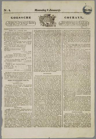 Goessche Courant 1849