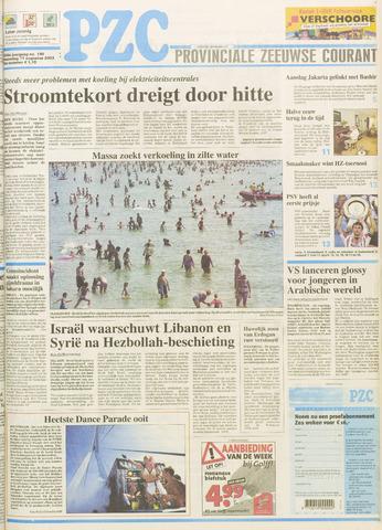 Provinciale Zeeuwse Courant 2003-08-11