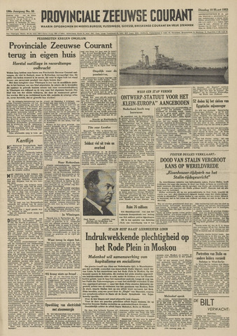 Provinciale Zeeuwse Courant 1953-03-10