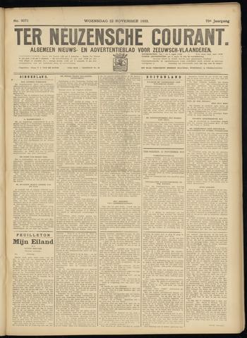 Ter Neuzensche Courant. Algemeen Nieuws- en Advertentieblad voor Zeeuwsch-Vlaanderen / Neuzensche Courant ... (idem) / (Algemeen) nieuws en advertentieblad voor Zeeuwsch-Vlaanderen 1933-11-22
