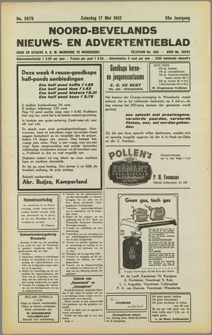 Noord-Bevelands Nieuws- en advertentieblad 1952-05-17