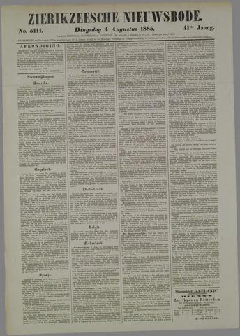 Zierikzeesche Nieuwsbode 1885-08-04