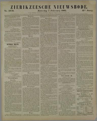 Zierikzeesche Nieuwsbode 1885-02-07