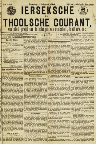 Ierseksche en Thoolsche Courant 1908-02-01