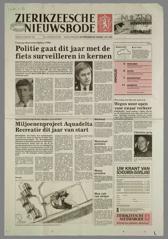 Zierikzeesche Nieuwsbode 1996-02-16