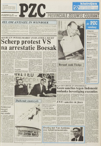 Provinciale Zeeuwse Courant 1985-08-28