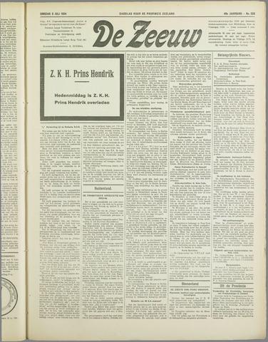 De Zeeuw. Christelijk-historisch nieuwsblad voor Zeeland 1934-07-03