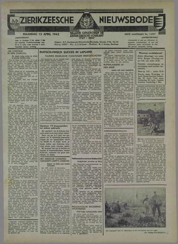 Zierikzeesche Nieuwsbode 1942-04-13
