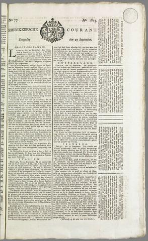 Zierikzeesche Courant 1814-09-27