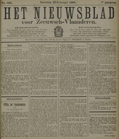 Nieuwsblad voor Zeeuwsch-Vlaanderen 1898-02-26