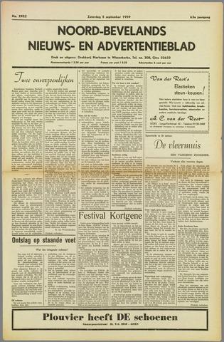 Noord-Bevelands Nieuws- en advertentieblad 1959-09-05