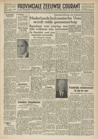Provinciale Zeeuwse Courant 1948-01-14