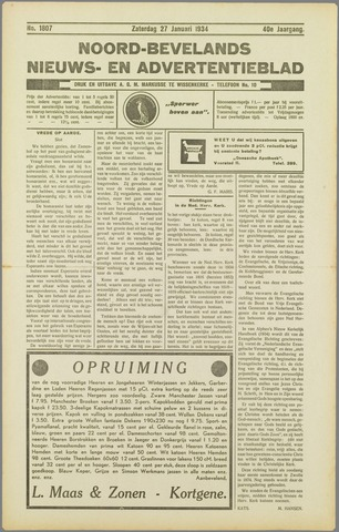 Noord-Bevelands Nieuws- en advertentieblad 1934-01-27
