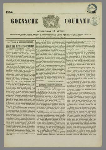 Goessche Courant 1852-04-15