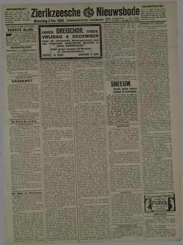 Zierikzeesche Nieuwsbode 1925-12-02