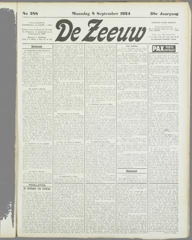 De Zeeuw. Christelijk-historisch nieuwsblad voor Zeeland 1924-09-08