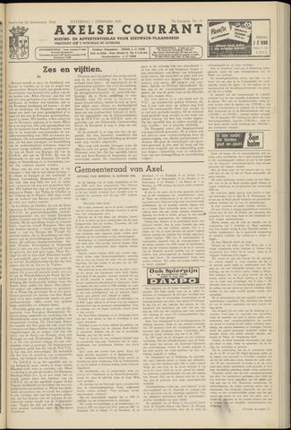 Axelsche Courant 1958-02-01