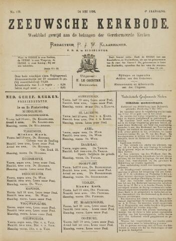 Zeeuwsche kerkbode, weekblad gewijd aan de belangen der gereformeerde kerken/ Zeeuwsch kerkblad 1890-05-24