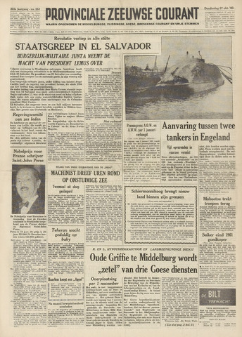 Provinciale Zeeuwse Courant 1960-10-27