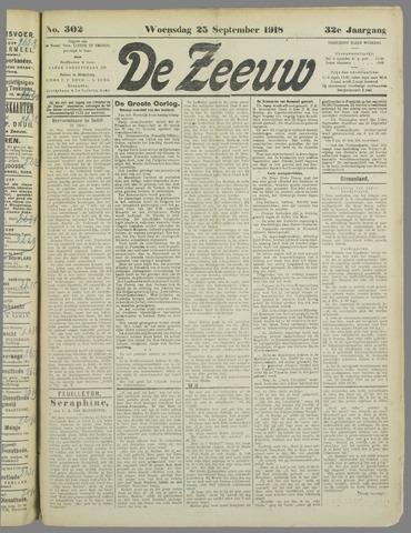 De Zeeuw. Christelijk-historisch nieuwsblad voor Zeeland 1918-09-25