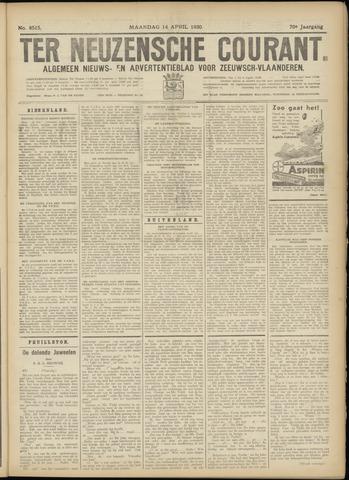 Ter Neuzensche Courant. Algemeen Nieuws- en Advertentieblad voor Zeeuwsch-Vlaanderen / Neuzensche Courant ... (idem) / (Algemeen) nieuws en advertentieblad voor Zeeuwsch-Vlaanderen 1930-04-14