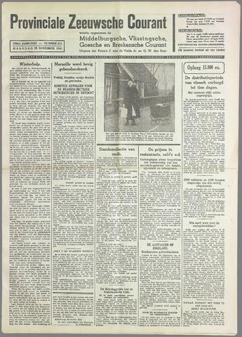 Provinciale Zeeuwse Courant 1940-11-25