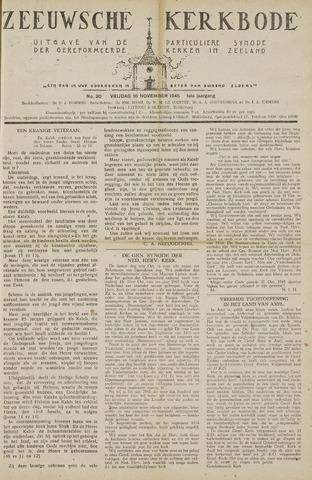 Zeeuwsche kerkbode, weekblad gewijd aan de belangen der gereformeerde kerken/ Zeeuwsch kerkblad 1945-11-16