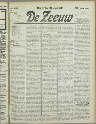 De Zeeuw. Christelijk-historisch nieuwsblad voor Zeeland 1918-06-27