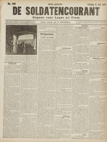 De Soldatencourant. Orgaan voor Leger en Vloot 1917-07-06