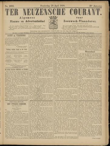 Ter Neuzensche Courant. Algemeen Nieuws- en Advertentieblad voor Zeeuwsch-Vlaanderen / Neuzensche Courant ... (idem) / (Algemeen) nieuws en advertentieblad voor Zeeuwsch-Vlaanderen 1898-04-28