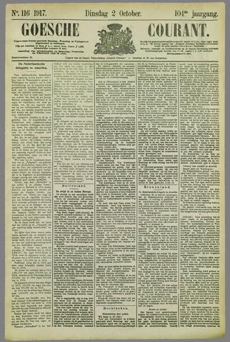 Goessche Courant 1917-10-02
